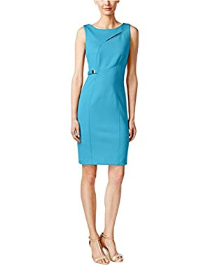 Womens Ponte Cut-Out Wear to Work Dress