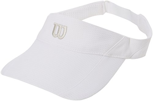 (2016 Wilson Tennis Mens Rush Fit Ultralite Adjustable Visor White)
