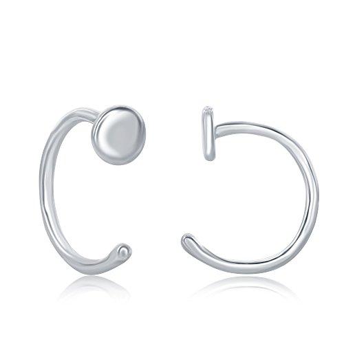 Sterling Silver High Polish Mini Disc Earrings