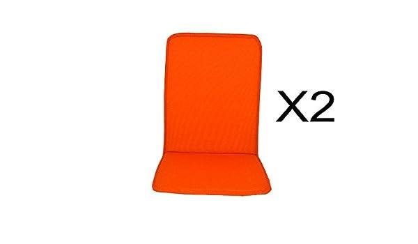 Catay Home Pack de 2 Cojines con Respaldo Naranjas para ...
