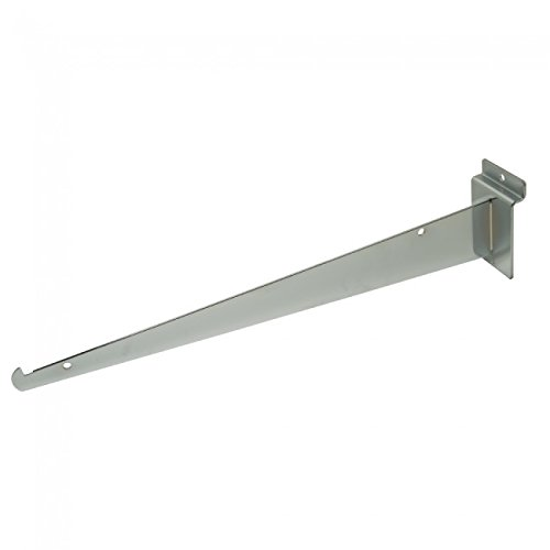 NAHANCO SW14KB Slatwall Shelf Bracket-Chrome