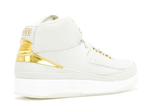 Bone Bg Jordan Metallic Air Gold Retro 2 Nike Q54 Boys' Shoes white Basketball Light PZBYqnwv