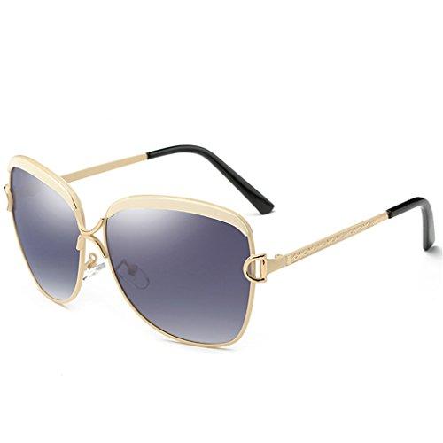 de Gafas Color polarizadas Brown sol Mujeres polarizado con de Beige Retro 64mm la Gafas Wayfarer Estilo Manera Mujer Calle pxqdwpa1