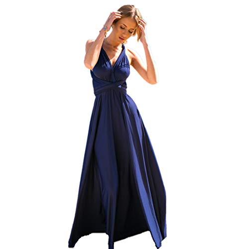 Women Transformer Infinity Evening Dress Multi-Way Wrap Convertible Halter Maxi Floor Long Dress High - Multi Womens Dress