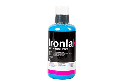 ironlak-marker-paint-refill-250ml-for-airbrushing-empty-markers-mops-and-dripsticks-smurf-blue