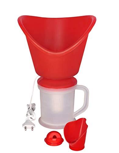 M. S. K. ENTERPRISES 3 In 1 Medical Facial Steamer Inhaler Vaporizer for Face, Cold, Cough, Sinus, Steam Breath Machine Regular for Adults/Kids – Made In India | Red