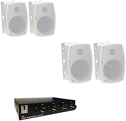 System One - Pack de 2 Parejas de Altavoces para Interior y ...