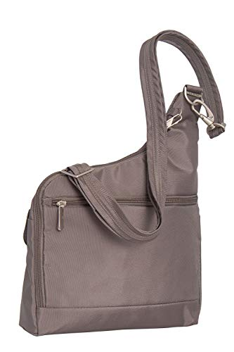 Travelon Cross Anti Theft Pocket Lining W Nutmeg Black Bag Body Coral Two r4rExUqw