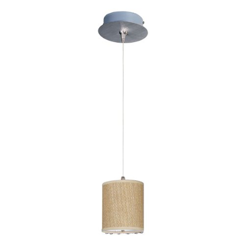 ET2 E95491-101SN Elements 1-Light RapidJack Pendant and Canopy Mini Pendant, Satin Nickel Finish, Glass, 12V GY6.35 T4 Xenon Bulb, 2.9W Max., Dry Safety Rated, 2900K Color Temp., Standard Dimmable, Shade Material, 500 Rated Lumens ()