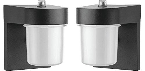 Lithonia Lighting OSC LED 120 PE BL M4 LED Entry Light, Black (2 Pack) Review