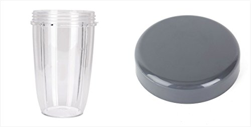 Sduck Replacement Parts for Nutribullet, 24oz Cup & Stay-fresh Resealable Lid For Magic bullet Nutribullet 600w & 900w (Difference Between Magic Bullet Blender And Nutribullet)