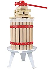 Fruit Wine Press - 100% Nature Apple&Grape&Berries Crusher Manual Juice Maker for Kitchen, Solid Wood Basket with 6 Blocks Cider Heavy Duty Wine Making Press