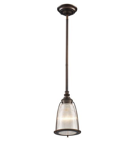Pendants 1 Light with Aged Bronze Finish Medium Base 6 inch 100 Watts - World of Lamp