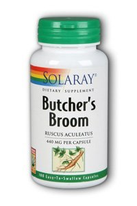 (Solaray Butcher's Broom Capsules, 440 mg, 100 Count by Solaray)
