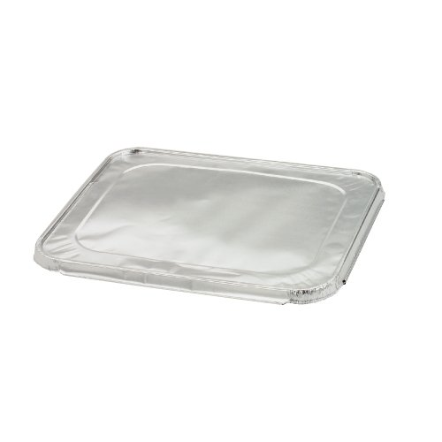"""Reynolds RL970 5/8"""" Overall Vertical Height, Aluminum Formed Steam Table Pan Oblong Container Lid (Case of 100)"""