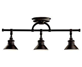 Kichler 42439OZ Sayre Rail Light 3-Light Halogen, Olde Bronze