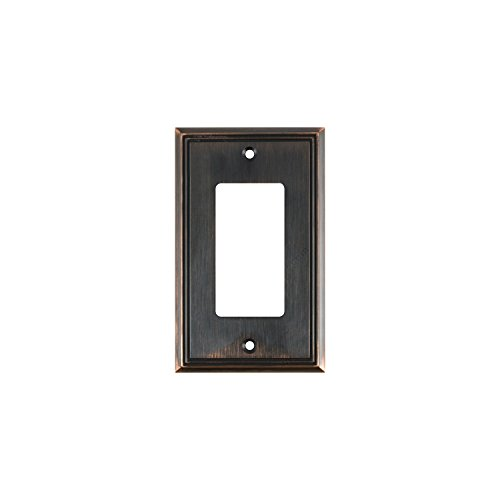 (Rok Hardware Wall Plate Contemporary Decorative Rocker/GFCI Switch Plate (Brushed Oil-Rubbed Bronze, 1)