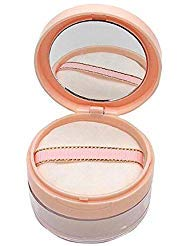 Powder Container - erioctry 20ml/0.67oz Empty Refillable DIY Make-up Loose Powder Case Container with Soft Sponge Puff Mirror and Sifter Foundation Cosmetic Box (Pink)