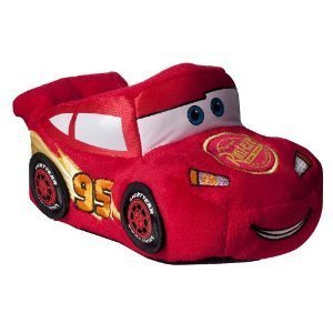 [Boy Shoe Size 7/8, Disney Pixar Cars Lightning Mcqueen Red Socktop Slippers Soft Shoes, Great for Halloween] (Highschool Halloween Costumes)