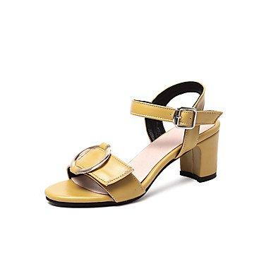 5 4In Heel White Summer EU38 US7 Dress Comfort 2In RTRY Black Chunky Leatherette Women'S CN38 Sandals Comfort 3 Gladiator Yellow 2 Casual 5 Gladiator UK5 X6PwURq