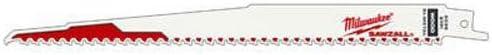 Milwaukee 48-01-7036 Super Sawzall Blade 6 Teeth per Inch 9-Inch Length 100-Pack Bulk