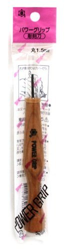 Mikisyo Power Grip carving knife chisel Round1.5MM