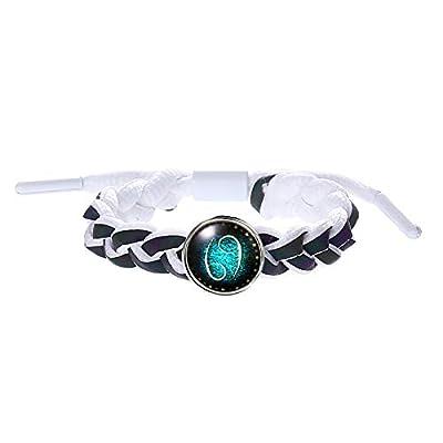 sameno Horoscope Jewelry Bracelet 12 Constellations Zodiac Lace Up Bracelet Leather Handmade Woven Cuff Birthday Gift: Toys & Games