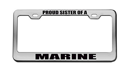 YEX Proud Sister of A Marine License Plate Frame Car for sale  Delivered anywhere in Canada