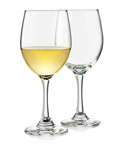 Libbey Classic White Wine Glasses, Set of 4 (Renewed)
