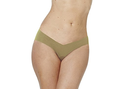 Alessandra B Camel Toe Cover Thong (Small, Nude)