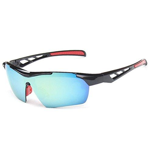 Sinkfish SG80023 Cycling Sunglasses for Women,Anti-UV & Fashion Reflector - UV400/Black - Sunglasses Liive