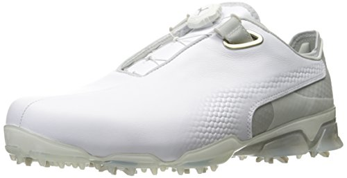PUMA Golf Men's TT Ignite Premium DISC Golf Shoe, White/Gray/Violet, 10 M US