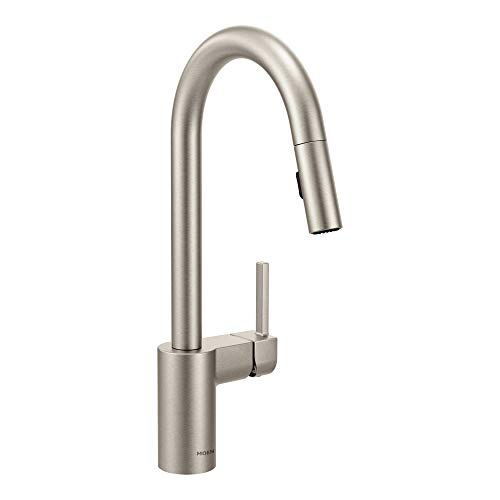 Moen 7565SRS Align One-Handle Modern Kitchen Kitchen Pulldown Faucet with Reflex and Power Clean Spray Technology, Spot Resist Stainless