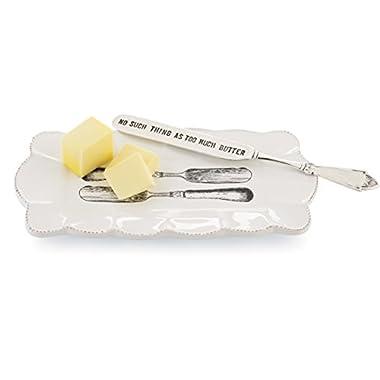 Mud Pie Butter Dish Set - Kitchen Utensils Gift Sets 115087MUDP