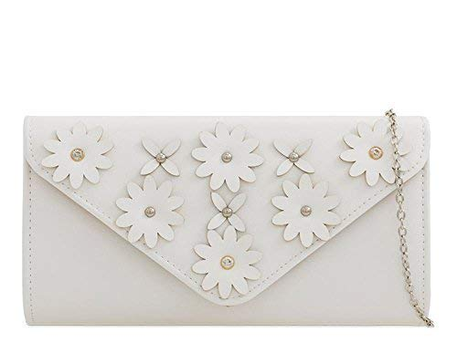 Lemon Haute Ladies Diva For Bag For Clutch Haute Floral Diva White qpxPHAz
