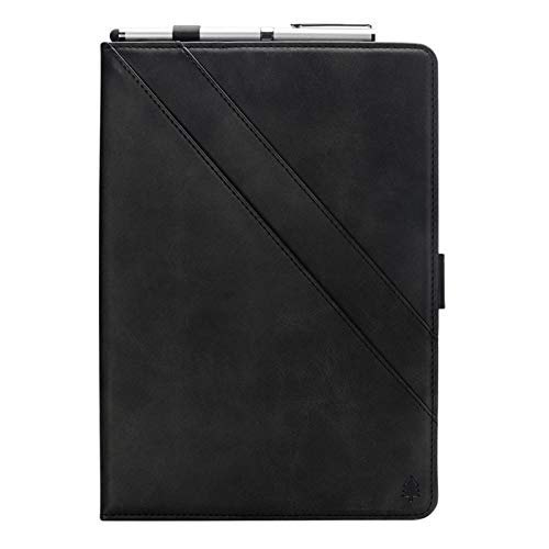 10.5'' Galaxy Tab S4 Tablet Case, TeCode Premium PU Leather Book Stand Cover with Card SlotsS Pen Holder Multi-Angle Viewing Protective Case for Samsung Galaxy Tab S4 10.5 inch SM-830/ SM-835, Black