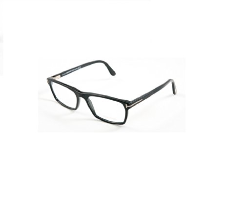 Tom Ford FT5295 Square Black Optical 56 Clear Lens Eyeglasses TF5295 002 New