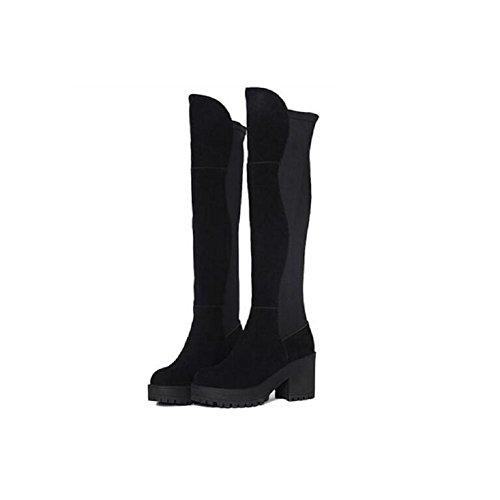 Casual Casual Casual donna 37 sottile gamba il stivali stivali stivali ginocchio tratto 37 Bootie tacco alto moda Sopra RTPqv7wR