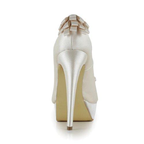 Champagne Donna Scarpe Wedding Sposa 20117 Tacco Col Jia 0PwfTU