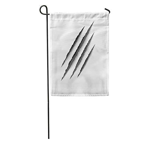 Semtomn Garden Flag Gray Mark Animal Scratches Claws