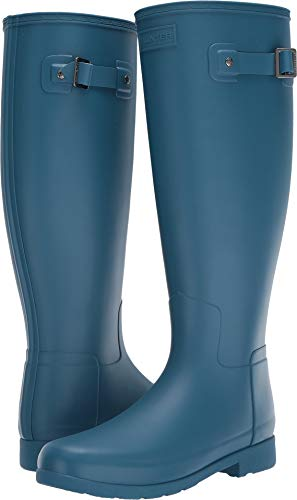 Hunter Women's Original Refined Wide Calf Rain Boot Matte Rock Pool 10 M US (Hunter Original Tall Rain Boot Wide Calf)