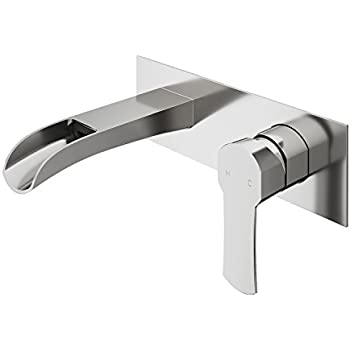 Vigo Vg05002bn Titus Two Handle Wall Mount Bathroom Faucet Brushed