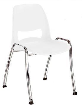 KARISMA - VANITY ZERO C, Sedia In Plastica Casa/Ufficio / Attesa/Scuola / Bar, Beige Bossberg