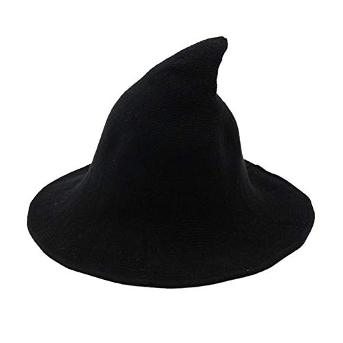 Unique Witch Costumes (Balai Witch Kinitted-Wool Hats for Women Girl Halloween Party Masquerade Cosplay Costume Accessory and Daily)