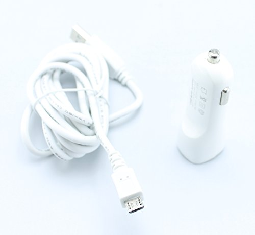 Premium Quality 2.1A Output Rapid Car Vehicle Auto Truck SUV 12V Plug in Adapter + 6 Ft Long Micro USB Charger / Data Sync Cable for ATT Samsung Galaxy Note Edge - Galaxy Note 4 - Rugby 4 - Galaxy S4 Zoom - Galaxy S5 Active - Sony Xperia Z3 Compact - Alltel UMX U680 - ZTE Z432 - Avail 2 - Compel - Radiant Z740 - Z222 - Z667 - Z431 - Z998