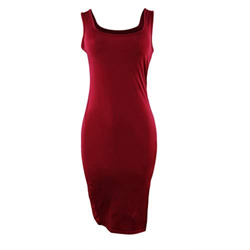 Donna Rosso Estate Dress Elegante con Slyar divisa 2019 unita Party borsa Moda lunga Abiti tinta Gonna EZqSpFS