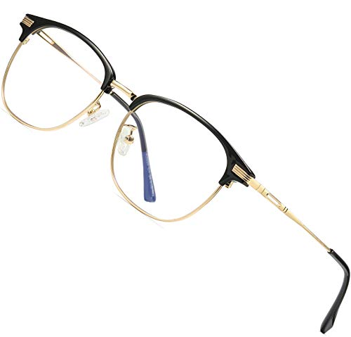 ATTCL Unisex Blue Light Blocking Glasses Eyeglasses Frame Anti Blue Ray Computer Game Glasses 5054-Gold