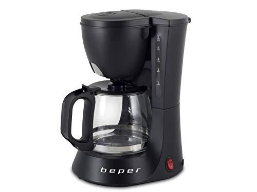 BEPER Cafetera Americana BC.060 Color Negro, 6 Tazas, de Goteo, 600 ml