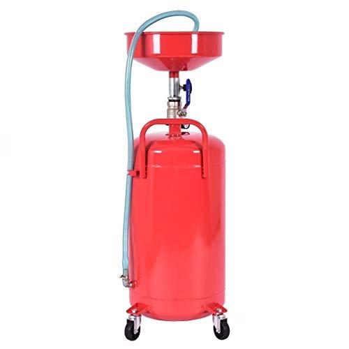LHONE 20 Gallon Heavy Duty Portable Waste Oil Drain Capacity Tank Air Operate Drainer from LHONE