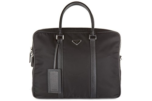 Prada briefcase attaché case laptop pc bag Nylon black